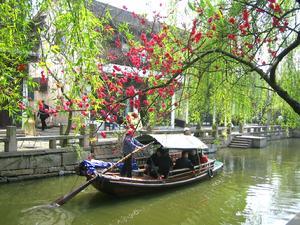gondola ride, zhouzhuang
